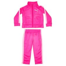 Puma Toddler Girls 2 Pc Tracksuit Set, Pink/White Colors. Size 3T(US). NWT