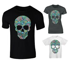 Paisley Patterned Skull T-shirt - Mens, Womens And Kids Sizes