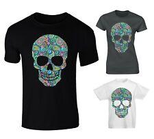 Paisley Patterned Skull T-shirt - Mens, Womens, Kids Sizes