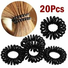 20pcs Elastic Phone Cord Line Rubber Hair Ties Band Rope Ponytail Holder Lots US