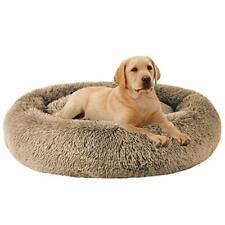 Calming Dog Bed Xl for Medium and Large Dogs Comfortable Pet Bed Faux 32'x24'x8'
