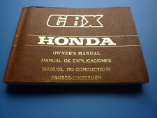 1981 1982 HONDA CBX1000 OWNERS MANUAL ENGLISH FRENCH GERMAN ITALIAN CBX 1000