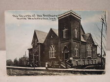 North Manchester Ind Indiana,the church of  the Brethern, early postcard 1909