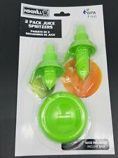Nexgrill 2 Pack Juicer Spritzer Spouts Base  Lemon Lime Cocktail Seafood NEW