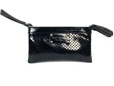 Kate Spade Perforated Black Patent Leather Wristlet