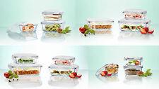 Glas Frischhaltedosen Set Klick ´N Store Gefrierdosen Vorratsdosen Glasschüssel
