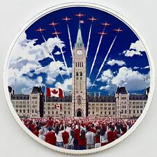 2017 $30 Celebrating Canada 2 oz. Pure Silver Glow-in-the-Dark Color Proof Coin
