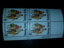 Scott #1455 US Stamp 1972 8c Family Planning Plate Block of 4 - # 804