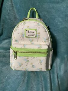 Loungefly Tinker Bell AOP Mini Backpack New With Tags
