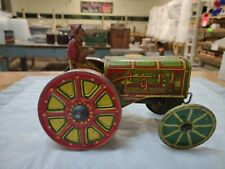 Antique Louis Marx American Tractor Tin Wind-up Fresh Out Of Estate Attic Find