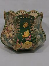 Handmade Vintage Unique Plastic Woven Basket/Flower Pot