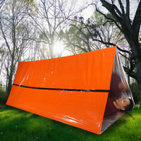 Emergency Tent Survival Folding Camping  Reflective Shelter Blanket Bag IN