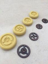 Flexible Silicone Mold Resin Clay Fondant Steampunk Gear Chocolate Polymer Clay