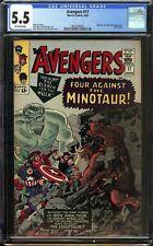 Avengers #17 CGC 5.5 Minotaur and Mole Man app Kirby Cover Marvel Comics 1965