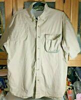 Bob Allen Vented Short Sleeve Button Down Shooting Hunting Shirt Mens Size XL
