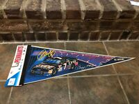 VINTAGE NASCAR #7 GEOFF BODINE EXIDE BATTERIES FORD PENNANT WINCRAFT NEW FS 2