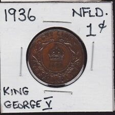 1936 B Newfoundland Large Cent King George V Great Condition