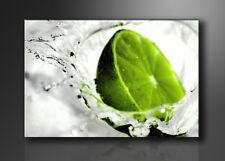 Bild - Marken Bilder Leinwand auf Rahmen Limette grün 80cm XXL 3 4131>