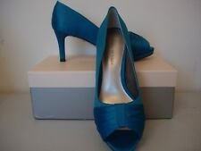 JACQUES VERT PLEATED DETAIL SHOES  -MID-TURQUOISE SIZE 6 -NEW