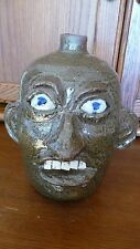 "Exceptional CHESTER HEWELL Pottery Face Jug - 10"" - Great Georgia Potter"