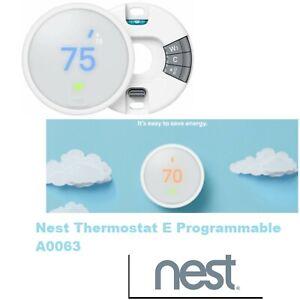 Nest Thermostat E Home Hub heat temperature control smart Google A0063 program