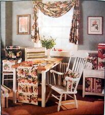 M 8391 PATTERN HOME OFFICE SEWING ROOM DECOR PRINTER SERGER COVERS SWAG + UNCUT