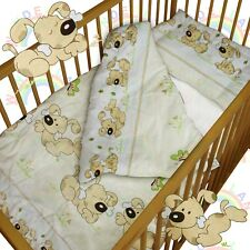 baby BEDDING set crib cot Puppy DUVET bumper MOSES BASKET fitted sheet GIRL BOY