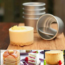 2'' Mini Cake Pan Removable Bottom Pudding Mold DIY Baking Tools Cake Mould USA
