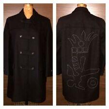Comme des Garçons Mens L Overcoat with Gorgeous Stitching