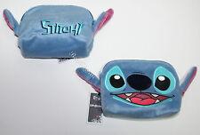 NEW Disney Lilo & Stitch Plush Head Ears Furry Cosmetic Make-Up Tote Bag Purse
