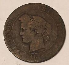 10 Centimes Cérès Bronze 1872A N2