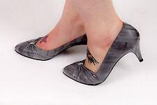 Vintage grey eel skin heels by Ana Lisa size 6.5