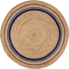 8x8 Anji Mountain Beige Circles Rings Area Rug Round AMB0363 - Aprx 8' x 8'