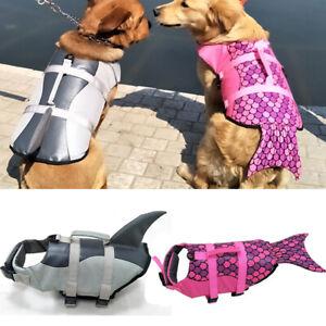 Boating Dog Life Jacket Pet Safety Clothes Mermaid Shark Puppy Surf Saver Coat
