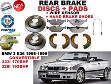 für BMW E36 Cabrio 323 328 hintere Bremsscheibe Satz+Bremsbelag