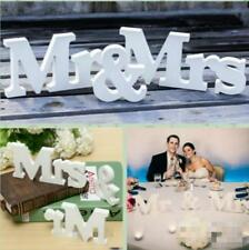Romantic Mr & Mrs Wedding Party Reception Sign Table Decoration Wodden Letters C