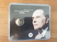 2 Euros Commémorative BU France 2016 Mitterrand - Coincard Officielle