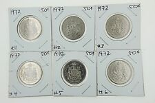 Canada 50 Cent Half Collection -1974 Uncirculated from Roll - Actual Photos