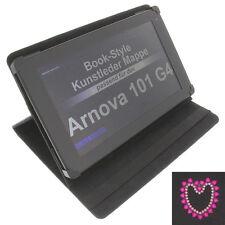 Pocket Rhinestone Heart For Arnova 101 G4 Tablet Book Style Protective Case