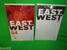 East of West #4 Blank & Regular Cover Comic Book Set First 1st Print Hickman