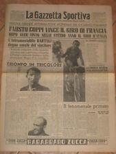 GAZZETTA DELLO SPORT=FAUSTO COPPI=TRIONFO GIRO FRANCIA 1949=TOUR DE FRANCE