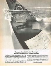 PUBLICITE  1968   PERRIER-JOUET  champagne RESERVE CUVEE