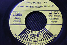 CECIL CAMPBELL & His TN Ramblers FOUR Steel Guitar INSTRUMENTALS 45rpm Starday
