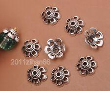 20pcs Tibetan silver charm hollow flower beads cap Bead Caps 10x4mm B3191