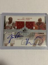 2003 Upper Deck SP Dual Auto RPA Game Used Jay Williams/Marcus Fizer /50 Auto