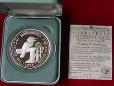 Australia. 1997  2oz - Silver Kookaburra.  Penny Privy Mark.. Cased Proof