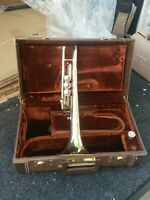 Conn Trumpet  with case   cornet LOOK MISSING CAP FOR CYLINDER BOTTOM