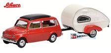 Schuco HO 1:87 26106 - Fiat 500 with Caravan