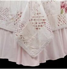 SIMPLY SHABBY CHIC KING PINK Ruffled BEDSKIRT New