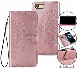 Oppo A39 A57 Wallet Case Embossed Pu Leather Half Mandala